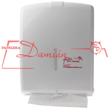 Dispenser Toallas Papel Intercaladas Carga 500u Visor Llaves