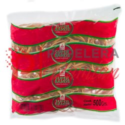 Banditas elasticas 100% latex Super Bands largas anchas 5mm bolsa 500gr Nº80