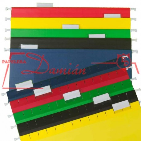Carpeta Colgante Color Reforzadas Varil.plastificada