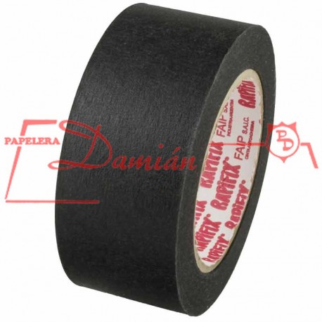 Cinta Rapifix Papel Negra 48mm X 50mt