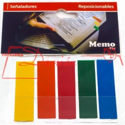 Banderitas Señaladores Adhesivos Tipo Post It REPOSICIONABLES 5 colores