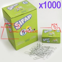 Clips metalicos 5 39mm caja x1000u
